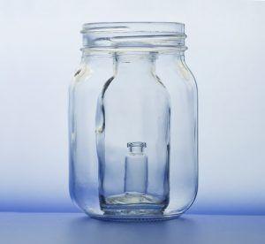 Trapped jar inside a jar inside another jar.