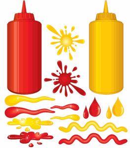 Bottles of hot sauce spray on white background.
