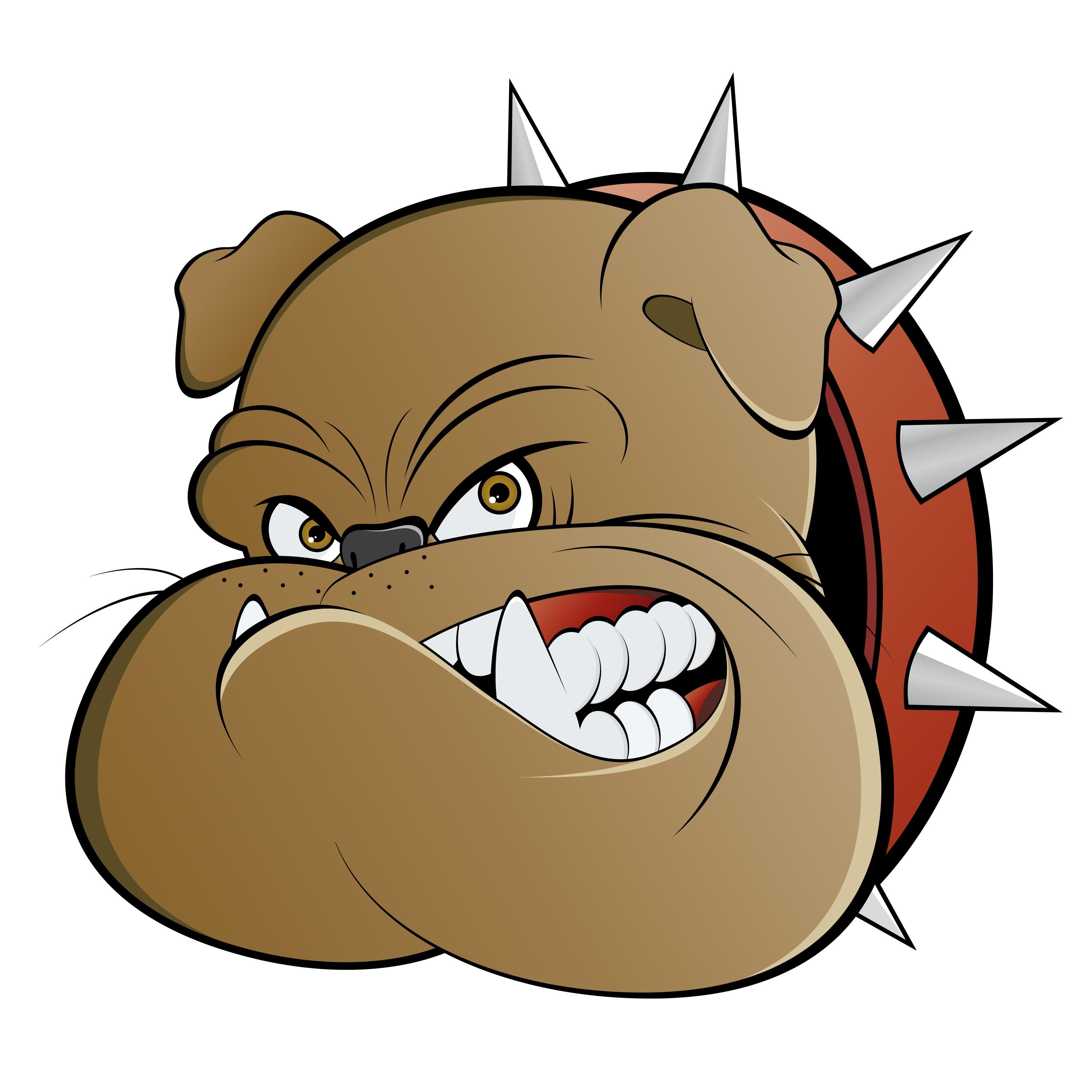 Angry cartoon watch dog.