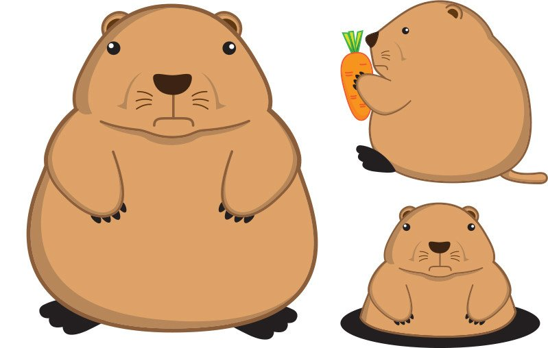 Fatty prairie dog cartoon