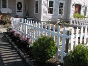 Fence around the house