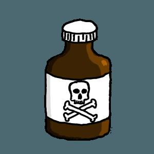 Brown poison bottle