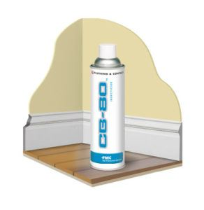 CB-80 contact aerosol product on floor