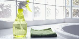 Water spray and cleaning cloth
