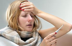 Woman having fever after rat-bite
