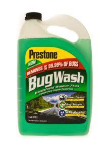 A gallon size of Prestone bug wash.