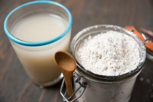 Food grade diatomaceous earth in bowl ready for use