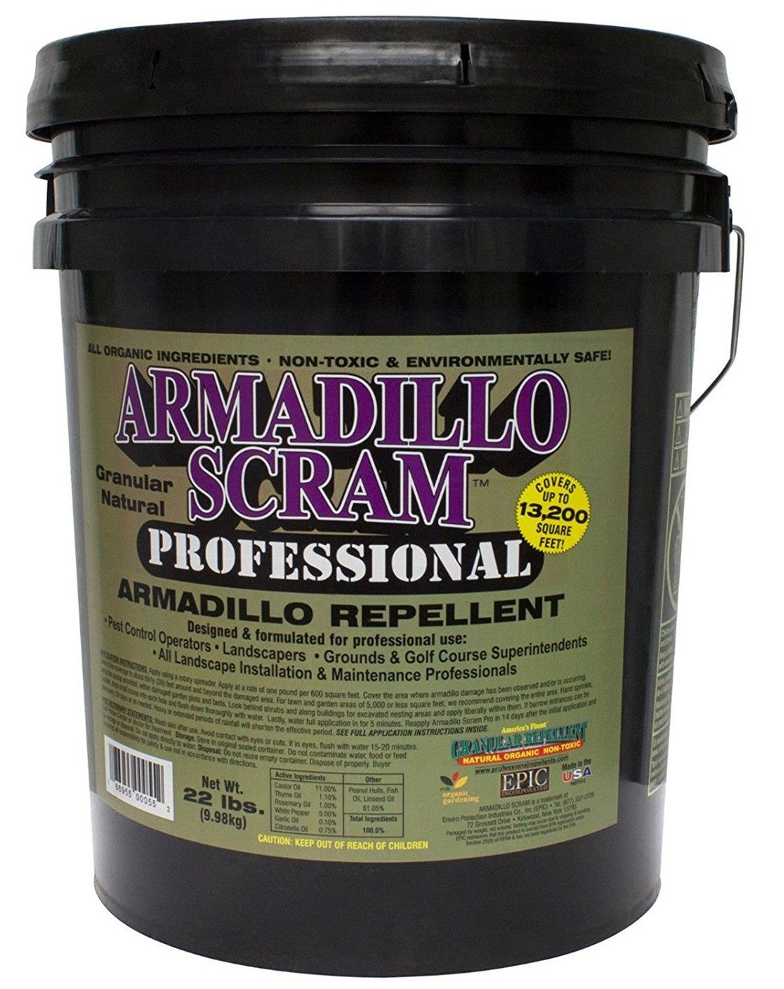 Outstanding This is quite similar to the previous product except that the natural properties are a little different. It does a great job in handling armadillos and chasing them away quickly. The only thing you need to be wary of is the potential chemical substances that are present in the product.