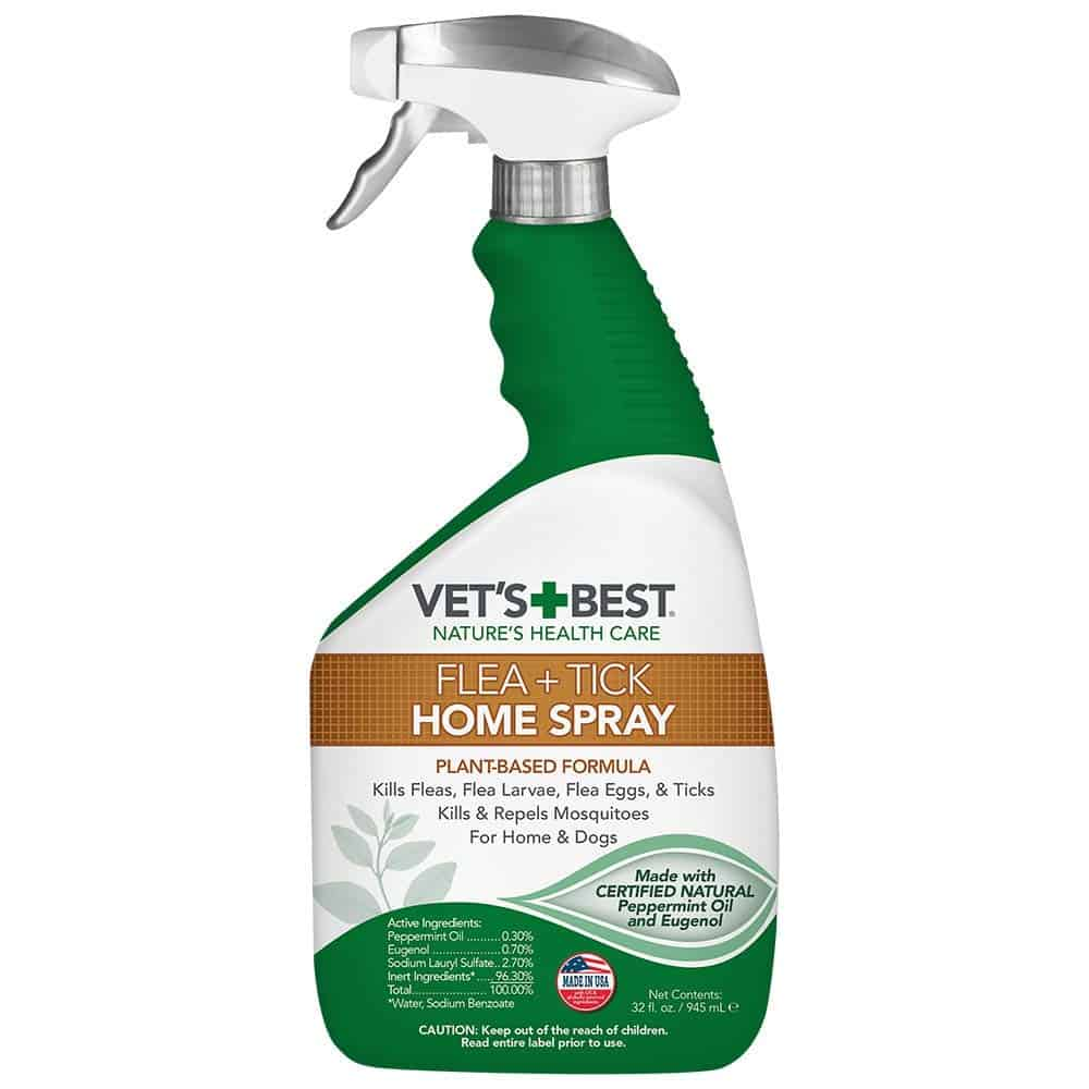 Vet's Best Flea and Tick Home Spray | Flea Treatment for Dogs and Home | Flea Killer with Certified Natural Oils | 32 Ounces