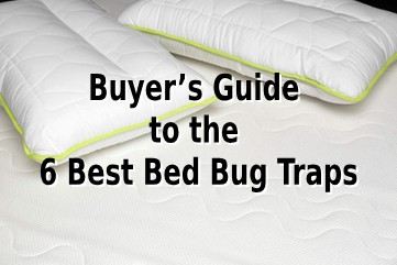 A white mattress with pillow treated with bed bug traps