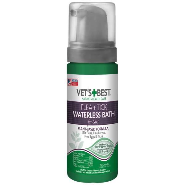 Best Waterless Shampoo: Vet's Best Flea & Tick Waterless Bath for Cats