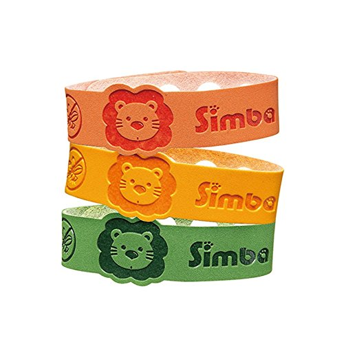Simba Baby-Kids Natural Mosquito Repellent Bracelet-Natural Citronella and Lemon Extract-No DEET